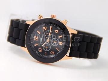 Silikonové hodinky Geneva černé