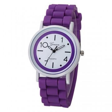 Silikonové hodinky Geneva Jelly fialové