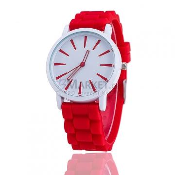 Silikonové hodinky červené