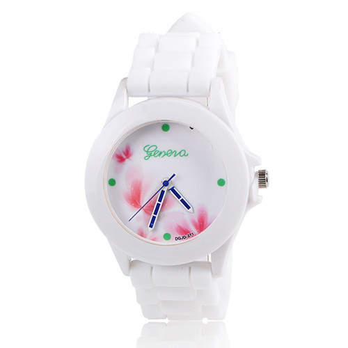 Silikonové hodinky Geneva Flowers 1