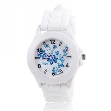 Silikonové hodinky Geneva Flowers 2