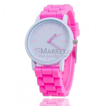 Silikonové hodinky růžové