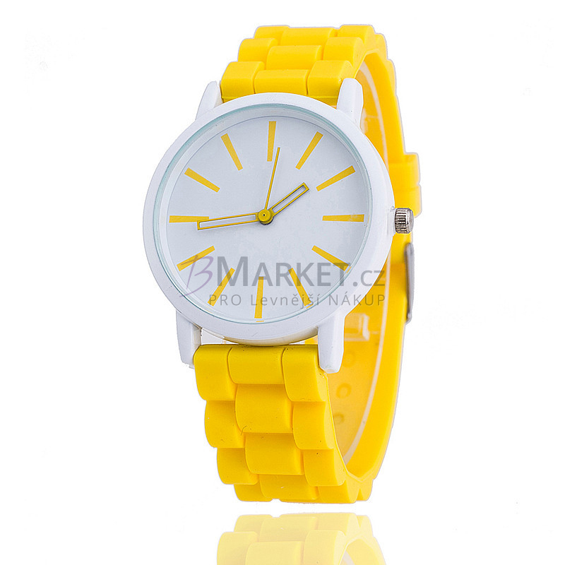Silikonové hodinky žluté