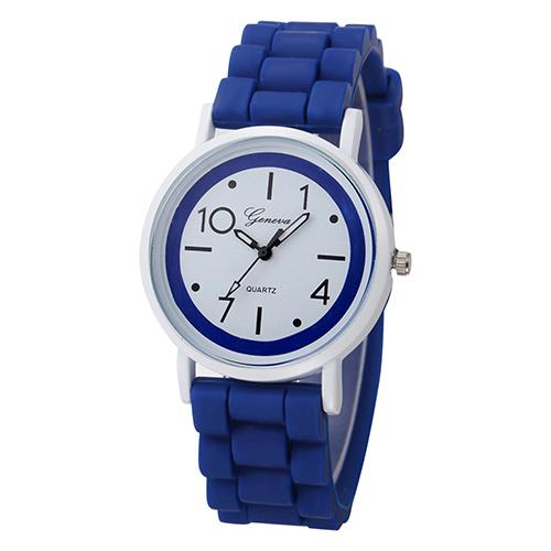 Silikonové hodinky Geneva Jelly tmavě modré