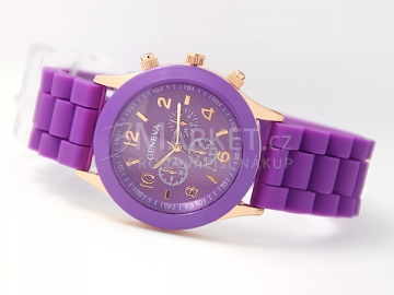 Silikonové hodinky Geneva fialové
