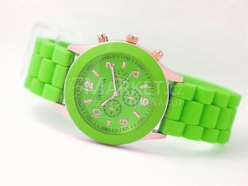 Silikonové hodinky Geneva zelené