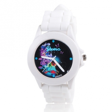 Silikonové hodinky Geneva Flowers 5