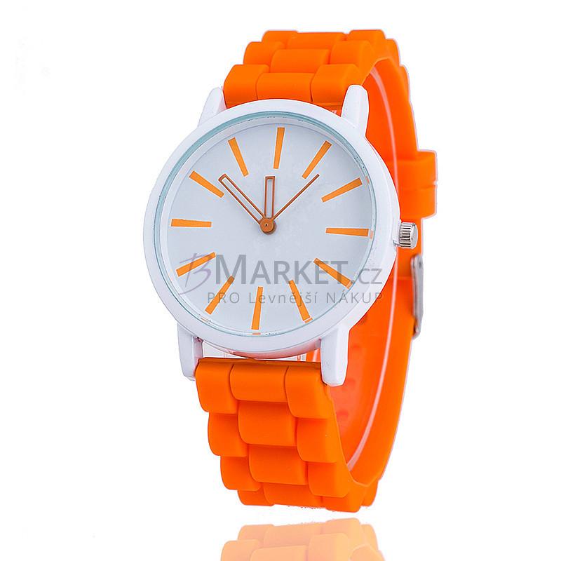 Silikonové hodinky oranžové