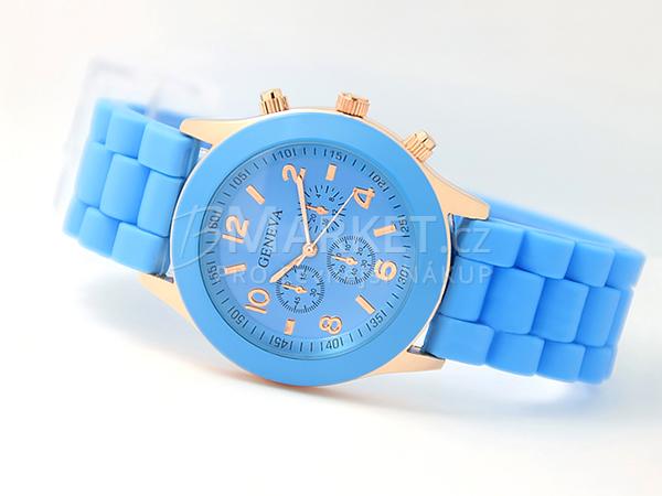 Silikonové hodinky Geneva modré