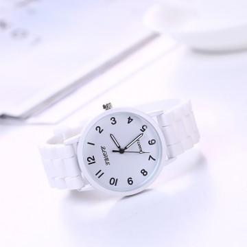 Silikonové hodinky Geneva Quote bílé