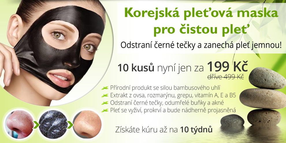 Korejská pleťová maska PILATEN pro čistou pleť