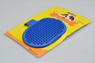 Silikonový kartáč na vyčesávání zvířecí srsti - Modrý (12,5cm)