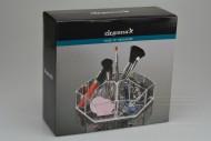 Šestiúhelníkový průhledný organizér na make-up ELEGANZA (20x8cm)