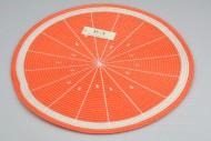 Pletené prostírání - 38 cm - pomeranč