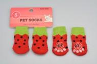 Ponožky pro psy s protiskluzovou podrážkou 2,5x6cm (S) - Meloun