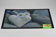 Bytová rohožka PERFECT HOME 40x60cm - Srdce s kopretinami