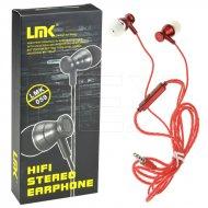 Hifi stereo sluchátka - LMK-059 - červená