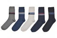 Férfi zoknik DENI MELI - öt pár, vegyes színek, farmer, méret 43-46