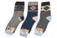 Pánské hřejivé ponožky AMZF - 3 páry, mix barev, velikost 44-47