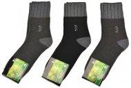 Pánské zdravotní bambusové termo ponožky AMZF PA-6485 - 3 páry, mix barev, velikost 44-47