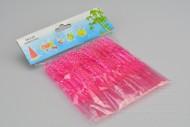 Plastové napichovátka na jednohubky 50ks - Růžové (11cm)