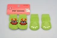 Ponožky pro psy s protiskluzovou podrážkou 2,5x6cm (S) - Zelené s obrázkem