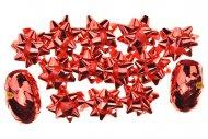 Dárkové mašle a stuhy HS (5cm) 14ks - Červené