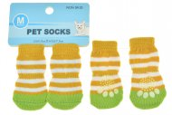 Ponožky pro psy s protiskluzovou podrážkou 3x7.5cm (M) - Proužky