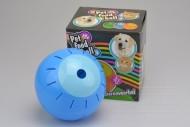 Plastový míček s otvory na krmení - Modrý (12,5cm)