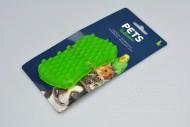 Gumový masírovací kartáč pro psy - Zelený (11,5cm)
