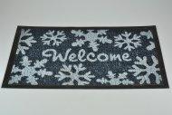 Bytová rohožka PERFECT HOME 40x60cm - Welcome vločky