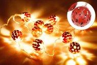 Svítící koule na baterie DECORATIVE 10LED (120x2.5cm) - Červené, teplá bílá