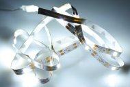 Samolepící LED pásek na baterie (100cm) 30 diod - Studená bílá