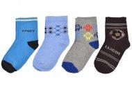 PESAIL baba zokni - 4 pár, vegyes színek, méret 27-30