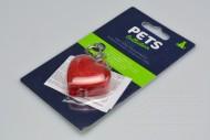 Signalizační přívěšek na obojek s LED - Srdce (4cm)