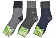 Pánské zdravotní bambusové termo ponožky AMZF - 3 páry, mix barev, velikost 44-47