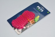 Gumový masírovací kartáč pro psy - Růžový (11,5cm)