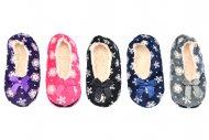 Hřejivé papuče s protiskluzovou podrážkou LOOKEN - 1 pár, mix barev, velikost 35-38