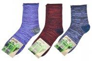 Női Egészség bambusz zokni ROTA - 3 pár, pöttyös, színkeverés, méret 35-39