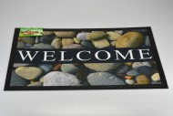 Bytová rohožka PERFECT HOME 40x60cm - Welcome s kamením