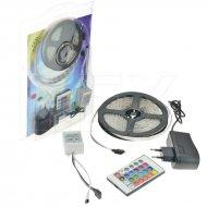 Barevný LED pásek s adaptérem - 5m