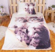 3D povlečení BedStyle 140x200 + 70x90 - Koťata