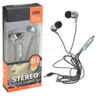 Stereo bass sluchátka - LMK-081 - šedá