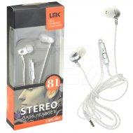 Stereo bass sluchátka - LMK-081 - stříbrná