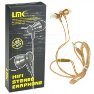 Hifi stereo sluchátka - LMK-059 - zlatá