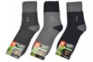 Pánské zdravotní bambusové ponožky AMZF - 3 páry, vzor HH, mix barev, velikost 44-47