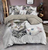 3D povlečení BedStyle 140x200+70x90+40x40 Kittens