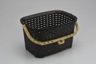 Plastový obdélníkový košík 3l (21,5x15,5x13cm) - Hnědý