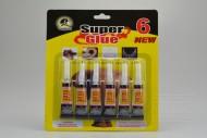 Vteřinové lepidlo SUPER GLUE 3g - Set 6ks (8cm)