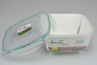 Plastový box se silikonovým těsněním PLAST ART 1,7l (9,5,5x19x19cm)